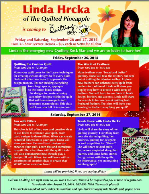 Join Me at The Quilting Bee