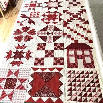 Moda Stitch Pink Roundup Blocks 8-16