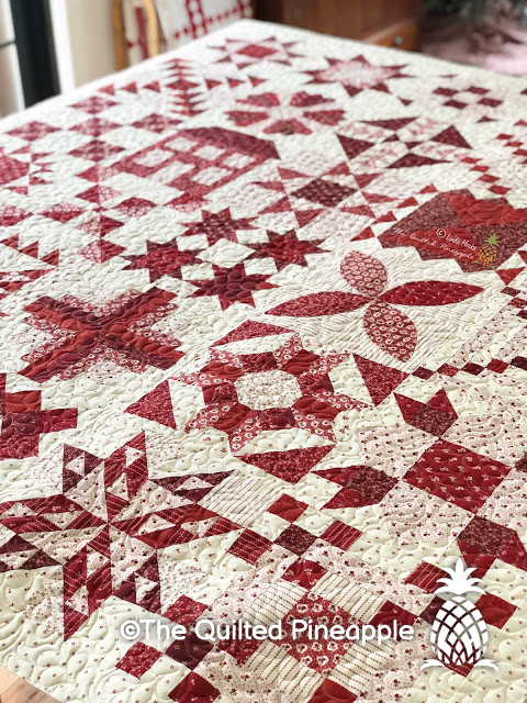 Moda Stitch Pink Quilt Reveal, Blocks 27-30, Anniversaries and Giveaway